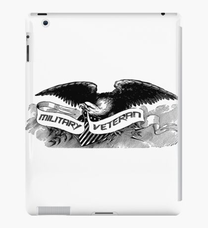 Military Veteran Tee Shirt With Eagle Symbolic Of Freedom iPad Case/Skin