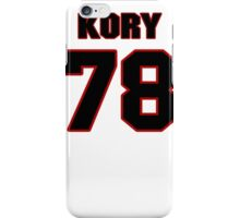NFL Player Kory Lichtensteiger seventyeight 78 iPhone Case/Skin