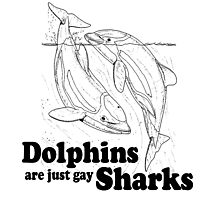 Dolphins are just gay sharks Photographic Print