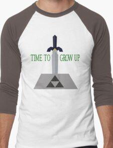 Time to Grow Up Men's Baseball ¾ T-Shirt