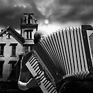 Accordian Blues Man by Larry Butterworth