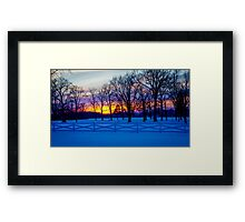 SCENIC SNOW SUNSET Framed Print