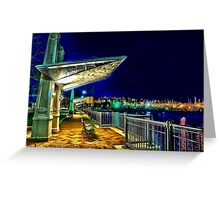 Date Night- Piers Park,East Boston Greeting Card
