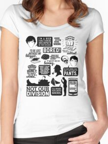 I'd Be Lost Without My Blogger Women's Fitted Scoop T-Shirt