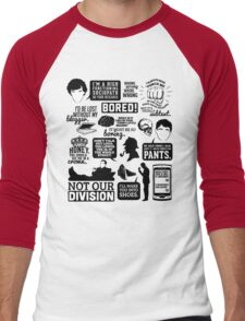 I'd Be Lost Without My Blogger Men's Baseball ¾ T-Shirt
