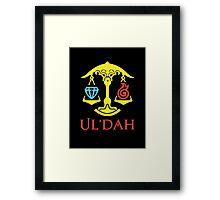 Ul'dah Framed Print