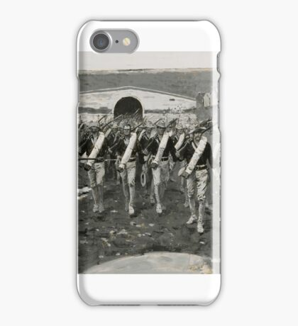 Frederic Remington  THE 9TH U.S. INFANTRY ENTERING PEKING, AUGUST 15,  (COMING THROUGH THE CHINESE WALL) iPhone Case/Skin