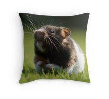 Hamster in the Grass Throw Pillow