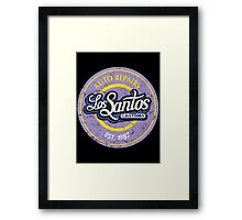 Los Santos Customs Framed Print