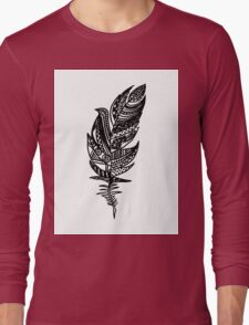 feather Long Sleeve T-Shirt