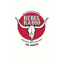 Rebel Radio! Art Print