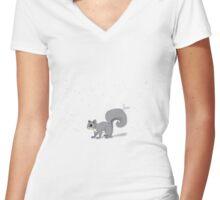 Kou - Demon Squirrel Women's Fitted V-Neck T-Shirt