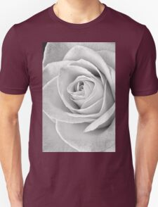 Beautiful Rose Black and White Unisex T-Shirt