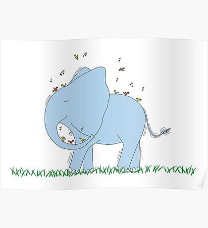 Dancing Elephant Poster
