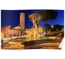 Saint Mary in Cosmedin in Rome Poster