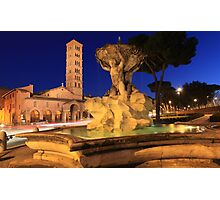 Saint Mary in Cosmedin in Rome Photographic Print
