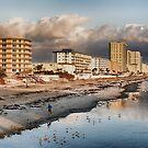 Beach Morning Run by Deborah  Benoit
