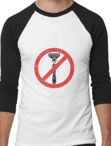 Beard Only - No Shaving Allowed Epic Beards Distressed Design Men's Baseball ¾ T-Shirt