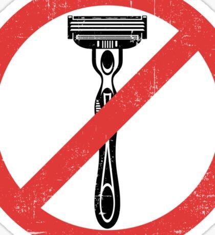 Beard Only - No Shaving Allowed Epic Beards Distressed Design Sticker