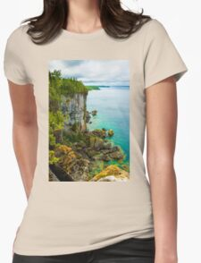 Landscape - Lookout Womens Fitted T-Shirt