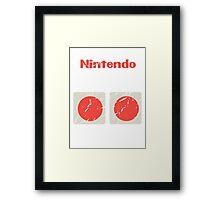 NES Controller Buttons Framed Print