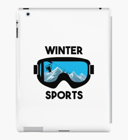 Winter Sports - Snowboarding Skiing  iPad Case/Skin