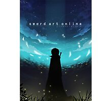 Kirito Night Sky Photographic Print
