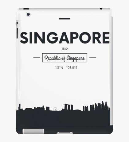 city skyline Singapore iPad Case/Skin