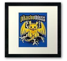 Pikachuthless Framed Print