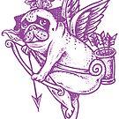 Stupid Pug Cupid by Huebucket