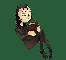 Loki reading a BOOK by MiningCazzy