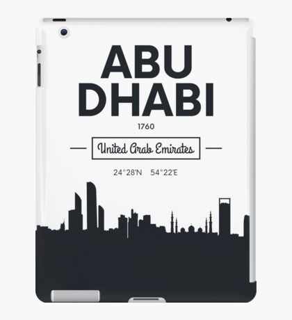city skyline Abu Dhabi iPad Case/Skin