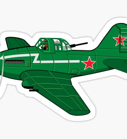 Cartoon Attack Plane Sticker