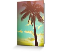 Retro Styled Palm Tree Greeting Card