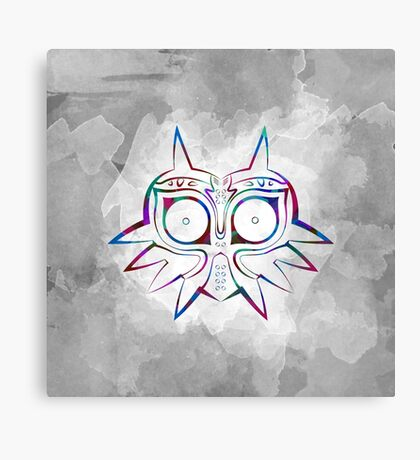 Majora's Mask Lines Color 3 Canvas Print