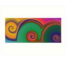 Colorful Southwestern Swirls Art Print