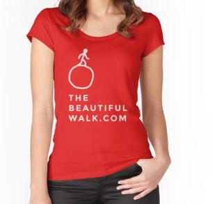 T-shirt femme moulant à col profond