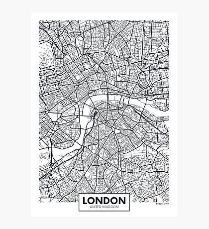 Vector poster map city London Photographic Print