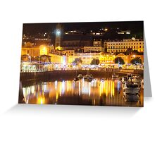 The harbour at Torquay, south coast UK Greeting Card