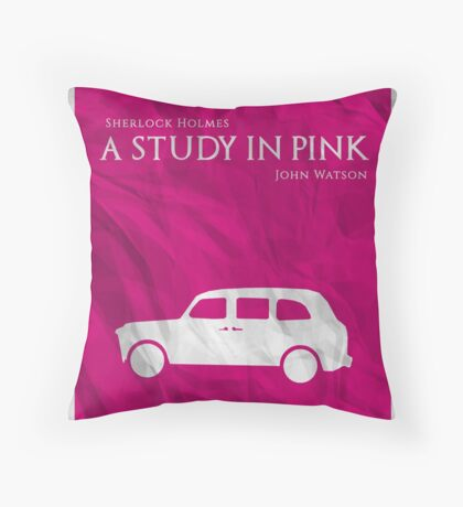 BBC Sherlock - A Study in Pink Throw Pillow