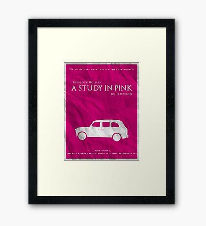 BBC Sherlock - A Study in Pink Framed Print