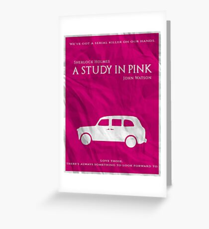 BBC Sherlock - A Study in Pink Greeting Card
