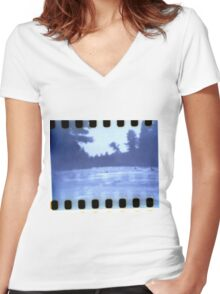 Up Stream Women's Fitted V-Neck T-Shirt