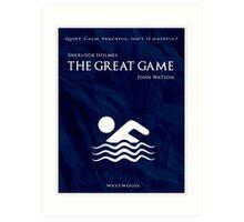 BBC Sherlock - The Great Game Art Print