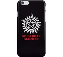 Supernatural No Demons Allowed [WHITE] iPhone Case/Skin