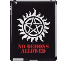 Supernatural No Demons Allowed [WHITE] iPad Case/Skin