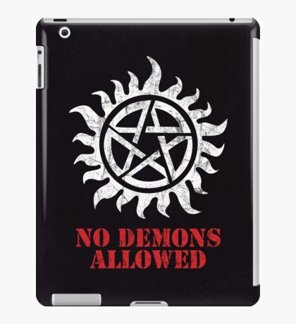Supernatural No Demons Allowed [WHITE] iPad Case/Skin