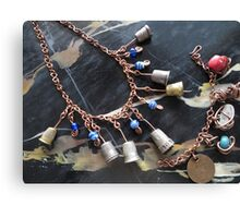 Thimbell Bells Necklace and Charm Bracelet Canvas Print