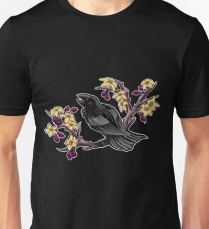 Raven and Blossoms Unisex T-Shirt