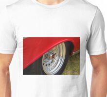 Red skirt chrome wheel - Chevrolet BelAir Unisex T-Shirt